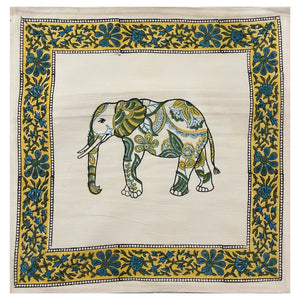 Elephant Print  Cotton Pillow Cover - 2 Colors - Vintage India NYC