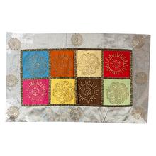 Silver Pillow Covers With Golden Block Prints - 4 Styles - Vintage India NYC