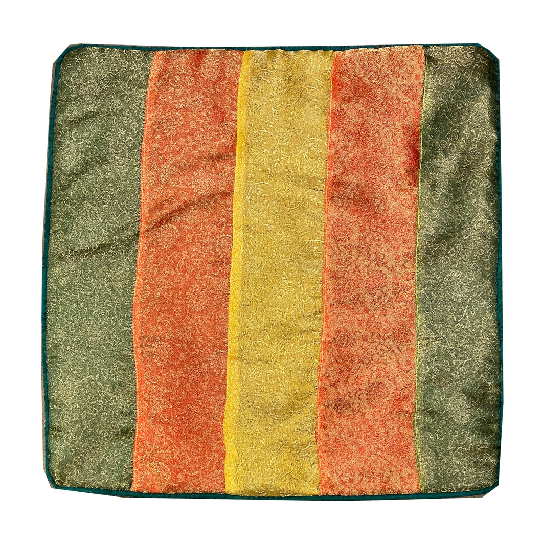 Multicolor Handmade Patchwork Pillow Cover - Vintage India NYC