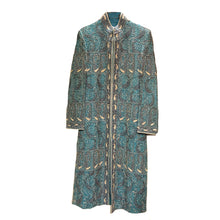 Ocean Blue Embroidered Sherwani - Vintage India NYC