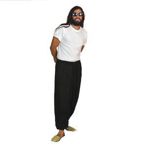 Organic cotton black harem pant - Vintage India NYC