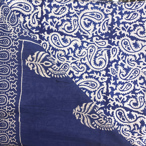 SC Reversible Blockprint Duvet Covers - Indigo - Vintage India NYC