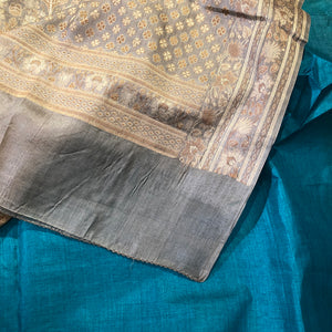 VM Tussar Silk Saree 2 - Vintage India NYC
