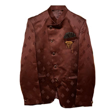 YD Maroon Satin Jodhpuri Jacket - Vintage India NYC