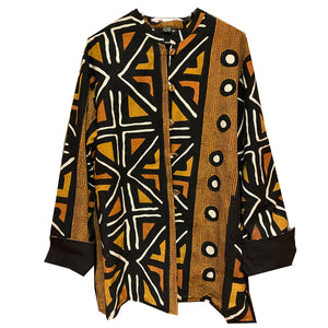 SHReversible African Print Jacket - Vintage India NYC