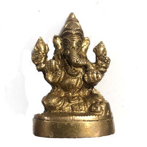 AK Brass Ganesh - Vintage India NYC