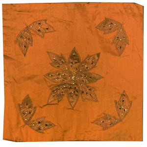 Embroidered Flower  Pillow Covers- 2 Colors - Vintage India NYC