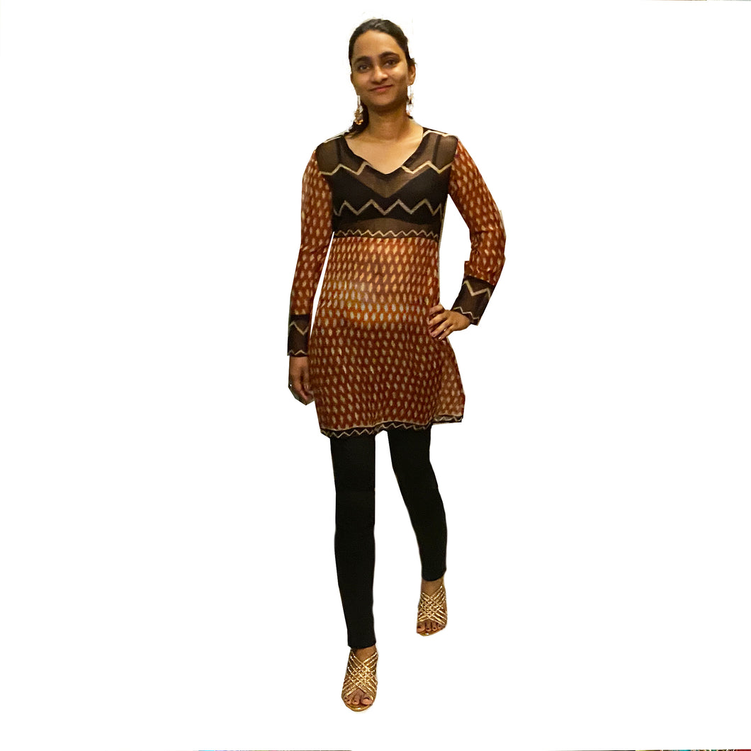 Handcrafted Dabu Top - Vintage India NYC