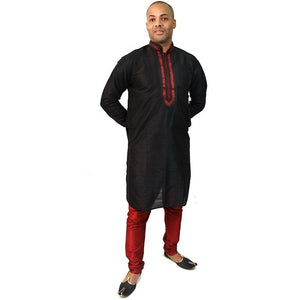 DC Black Men Kurta - Vintage India NYC