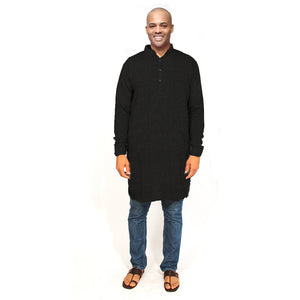 Organic Cotton Kurta Black