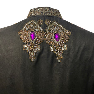 Black and Silver Sherwani - Vintage India NYC