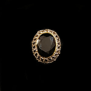 Black Cocktail Ring-3 styles - Vintage India NYC