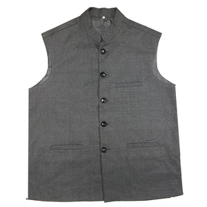 Nehru/ Modi Wool Vest - Vintage India NYC