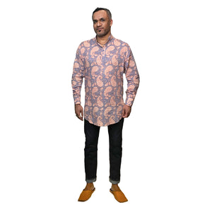 VR Men's Block Print Shirts Size Large - Vintage India NYC