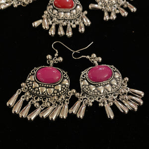 IF Silver Metal Necklace Set 203 - Vintage India NYC