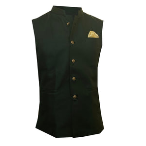 YD Hunter Green Vest - Vintage India NYC