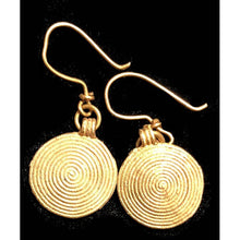 Brass earrings 35
