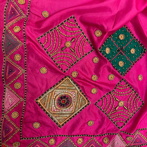 Vintage Heavy Work Dupatta Scarf 8690 - Vintage India NYC