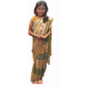 Handmade children's sari - Vintage India NYC