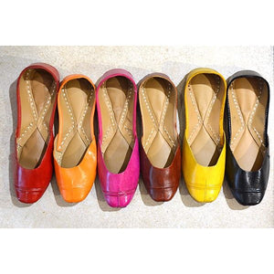 Handmade leather shoes in many colors
