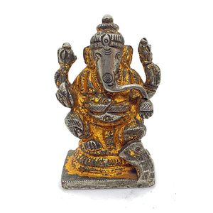 GM Brass & Copper Ganesh 2.5 in - Vintage India NYC