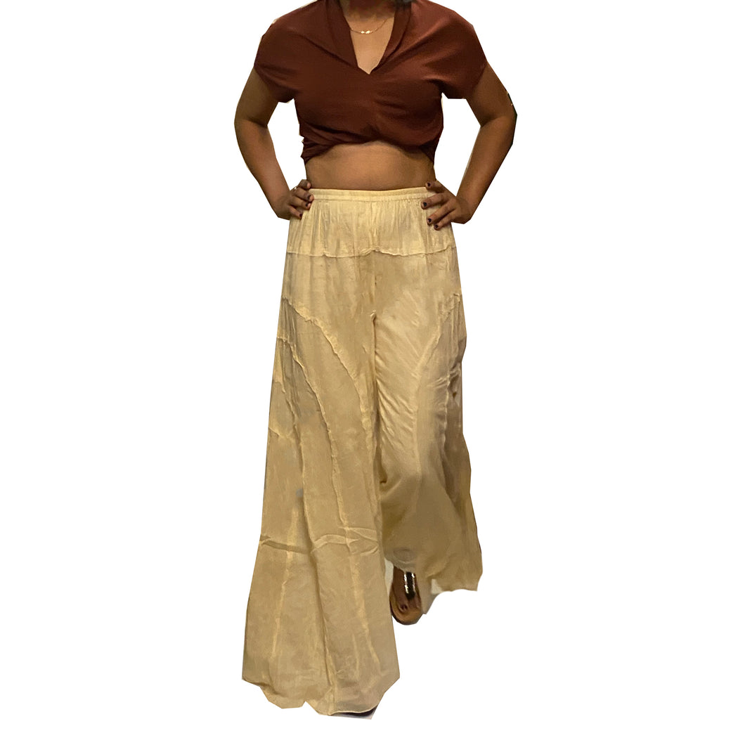 Cotton Wide Leg Pant - Vintage India NYC