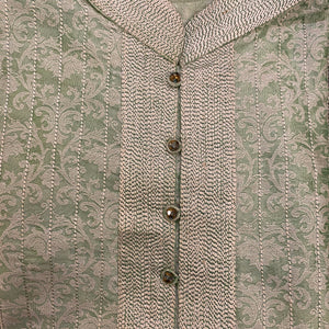 DC Mint Brocade Kurta - Vintage India NYC