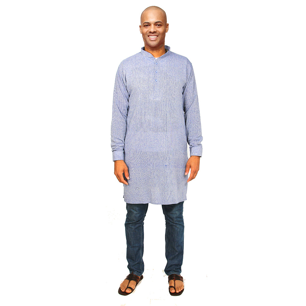 Organic cotton kurta denim blue