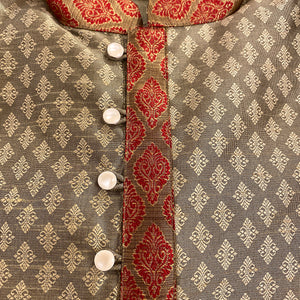 DT Gold Brocade Short Kurta - Vintage India NYC
