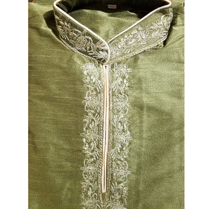 DT Olive Green Short Kurta - Vintage India NYC