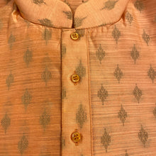 DT Peach Brocade Short Kurta - Vintage India NYC