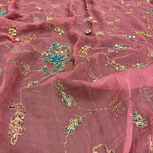 Vintage Heavy Work Dupatta Scarf 8691 - Vintage India NYC