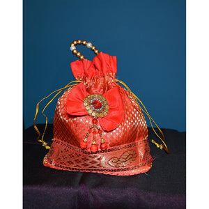 Red fancy purse - Vintage India NYC