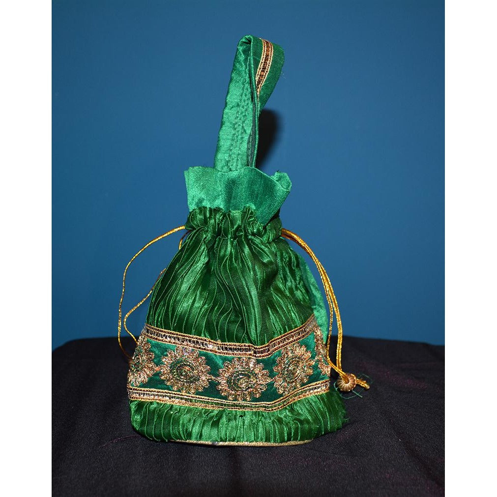 Green fancy purse - Vintage India NYC