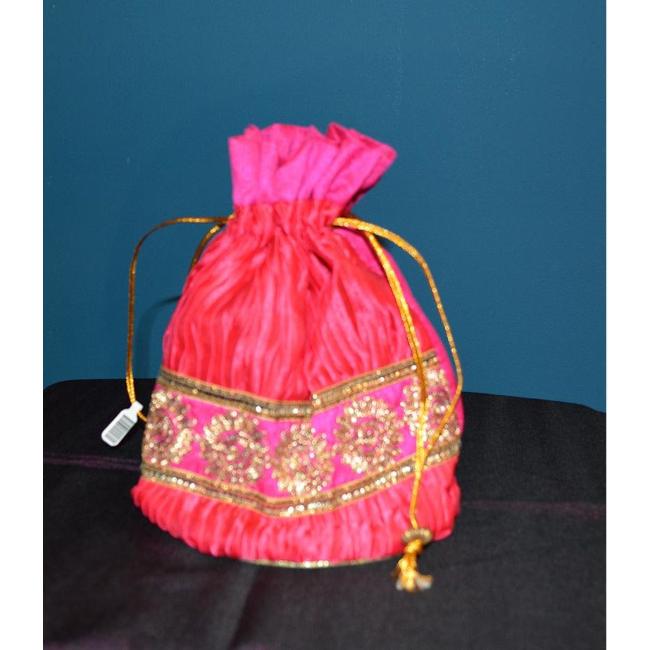 Pink fancy purse - Vintage India NYC