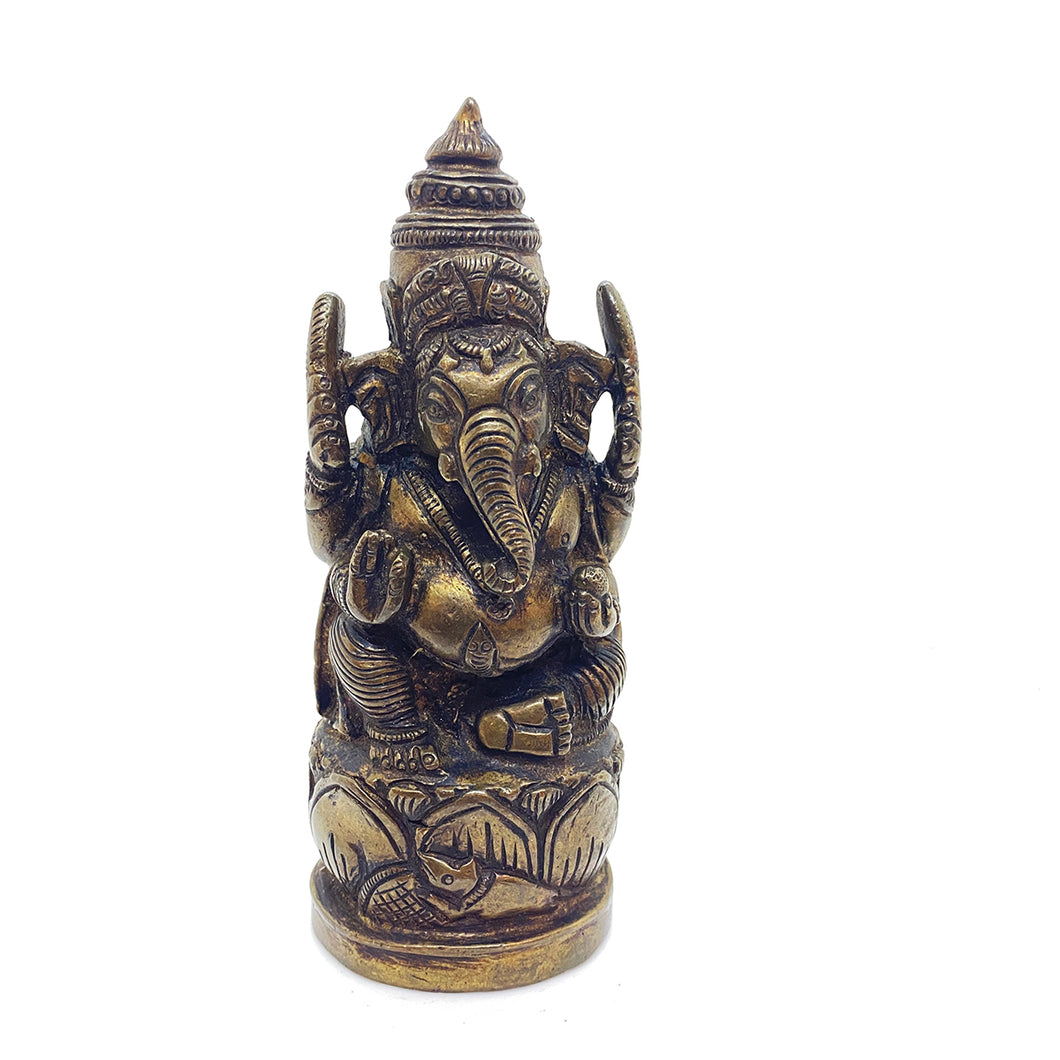 GM Brass Ganesh 5.5 in - Vintage India NYC