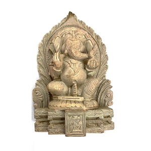 GM Soapstone Ganesh 3.3  in - Vintage India NYC