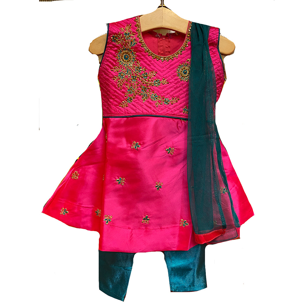 DT Girls Anarkali 12-16 - Vintage India NYC
