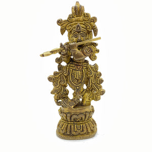 GM Brass Krishna 4.5 in - Vintage India NYC
