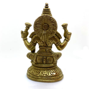 GM Brass Lakshmi 5 in - Vintage India NYC