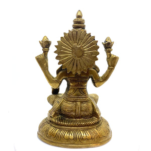 GM Brass Lakshmi  7.5 in - Vintage India NYC