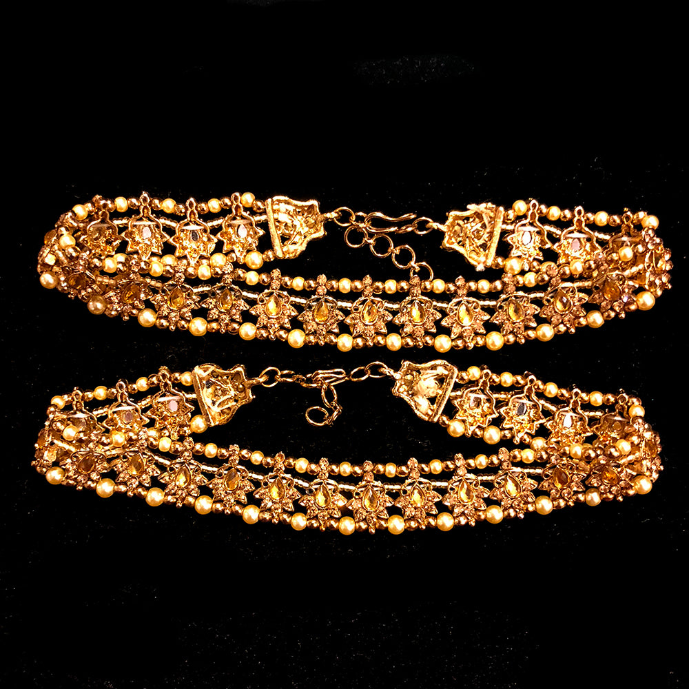 IF Gold bead ankle bracelet