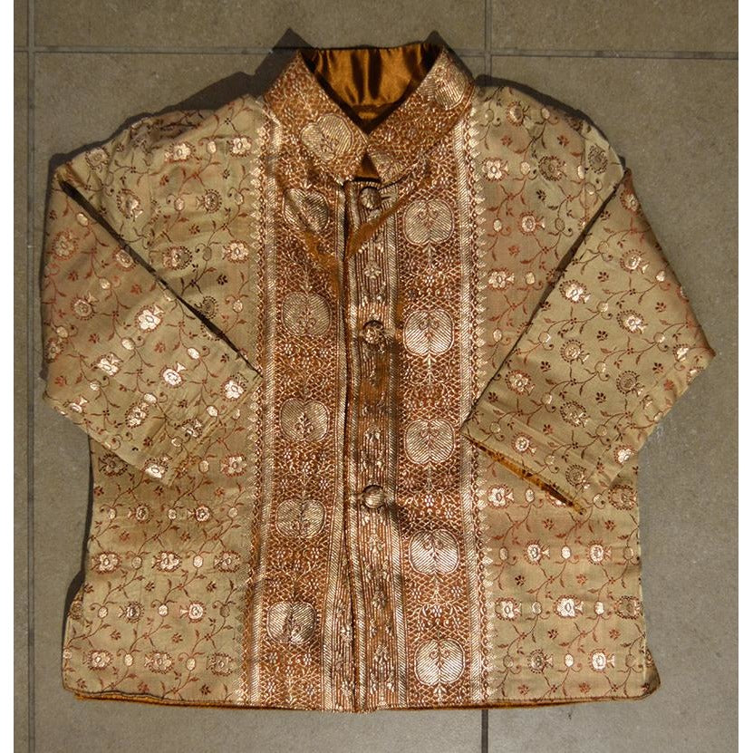 Gold silk brocade children's jacket