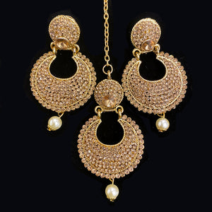 Gold Earring and Tikka Set - Vintage India NYC