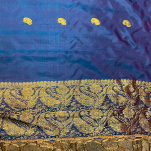 Handwoven Pure Silk and Gold Zari Dupatta Stoles-Many Colors - Vintage India NYC