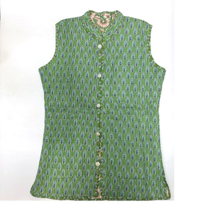 VR Sea Green Quilted Vest