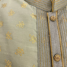 YD Silk with Gold Print Kurta-3 Colors - Vintage India NYC