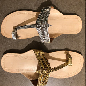 RO Silver and Gold Indian Sandals