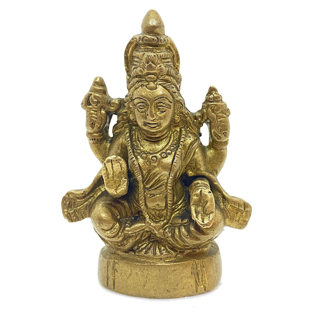 GM Brass Lakshmi 4 in - Vintage India NYC