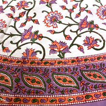 Round Tablecloth-Lavender 66 inch - Vintage India NYC
